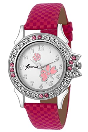 Rich Club Analogue White Dail Women's & Girl's Watch (Rc-Lui-Pink)