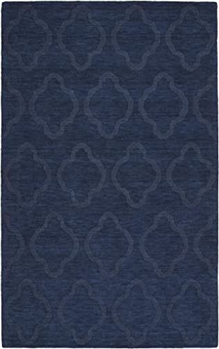 Kaleen Rugs Imprints Modern Collection IPM02-22 Navy Hand Tufted Rug, 9 6 x 13 6