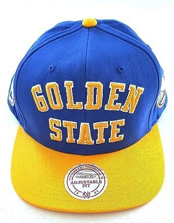 Mitchell   Ness Golden State Warriors Wordmark Blue Snapback  Amazon ... da8f84fdab7