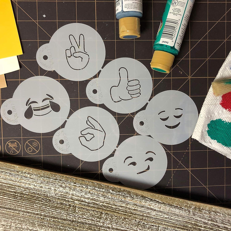 Emojis 2 Cookie Stencil Set C1017 by Designer Stencils
