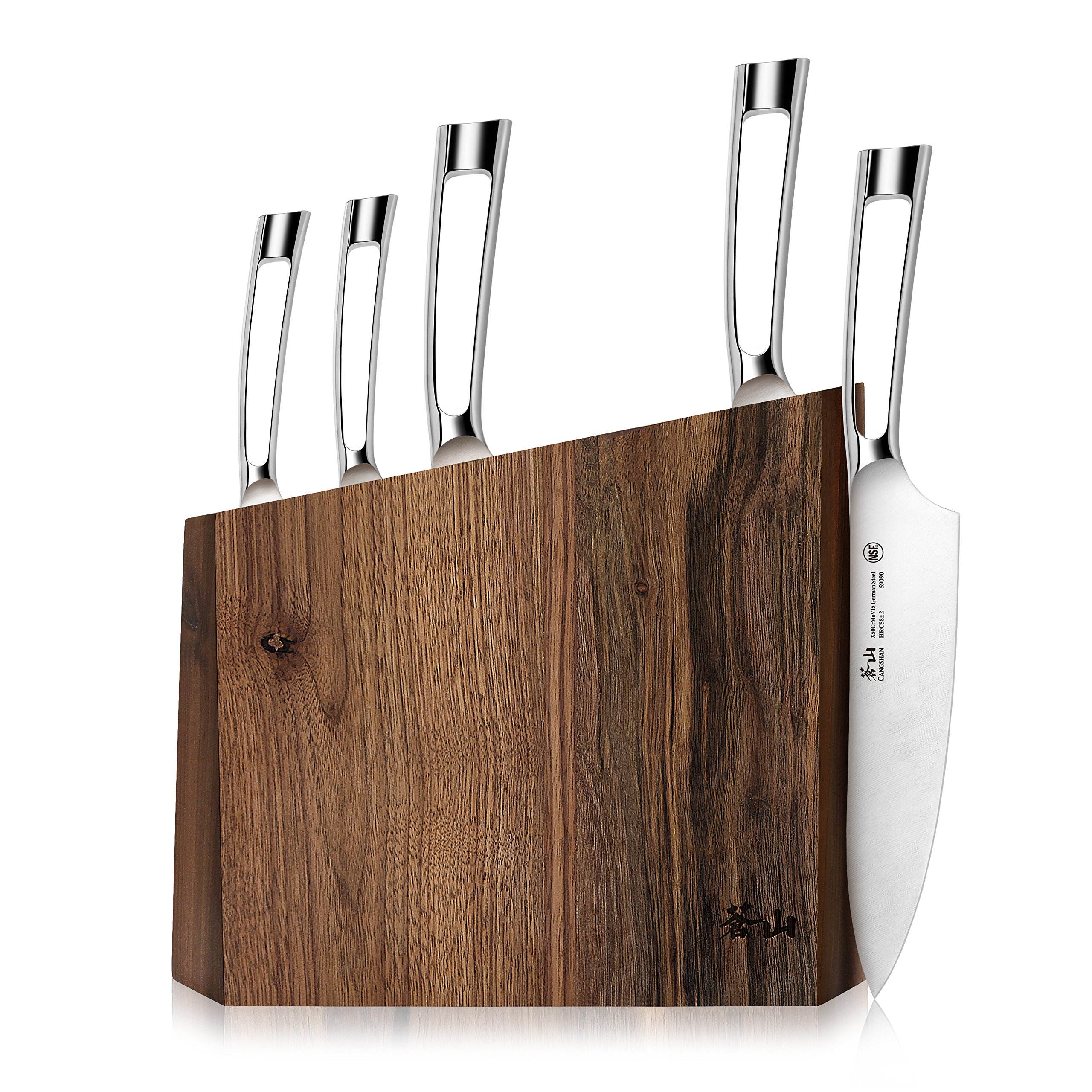 Cangshan N1 Series 61017 6-Piece German Steel Forged Knife Block Set, Walnut Block by Cangshan (Image #9)