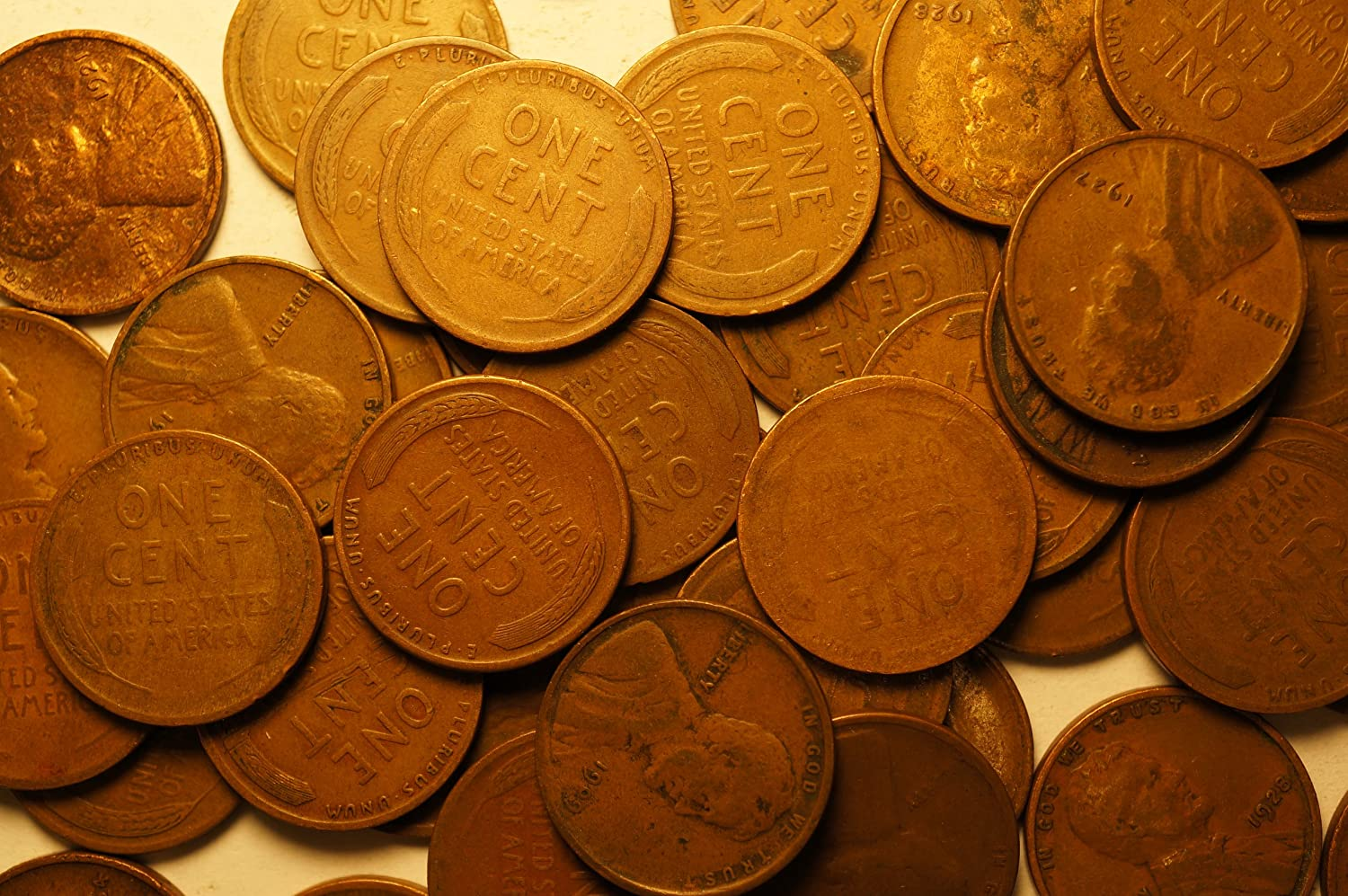 Roll 1920 S Lincoln Wheat Cents Penny in Good or Better Condition 50 Coins
