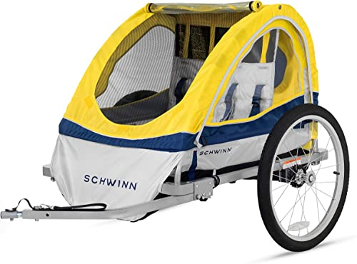 Schwinn Joyrider, Echo, and Trailblazer Bike Trailer for Toddlers and Kids