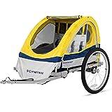 Schwinn Echo Double Bike Trailer Yellow