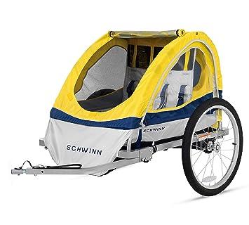 Amazon Com Schwinn Echo Kids Child Double Tow Behind Bicycle