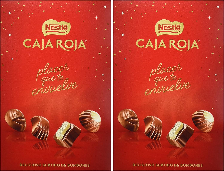 Nestlé Caja Roja - Selección de Bombones - 2 Paquetes de 100 g - Total: 200 g: Amazon.es: Alimentación y bebidas