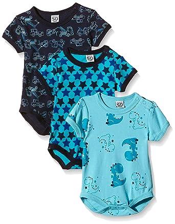 Care Baby - Jungen Kurzarm-Body im 3er und 6er Pack
