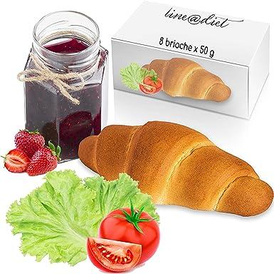 8 croissant sabor neutro proteico Line@diet | sin azúcar | Un croissant de 50 gramos empaquetado individualmente | 30% de proteína | Fase 1