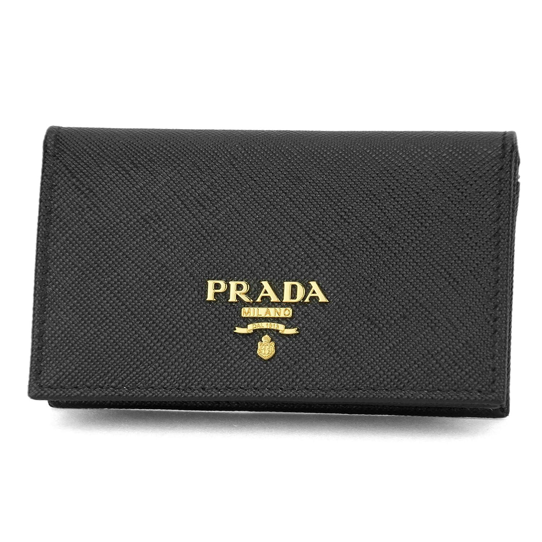 プラダ(PRADA) カードケース(名刺入れ) 1MC122 QWA F0002 サフィアーノメタル ブラック 黒 [並行輸入品]   B06XPYMNV4