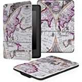 MoKo Case for Kindle Paperwhite, Premium Thinnest and Lightest PU Leather Cover with Auto Wake / Sleep for Amazon All-New Kindle Paperwhite (Fits 2012, 2013, 2015 and 2016 Versions), MAP A