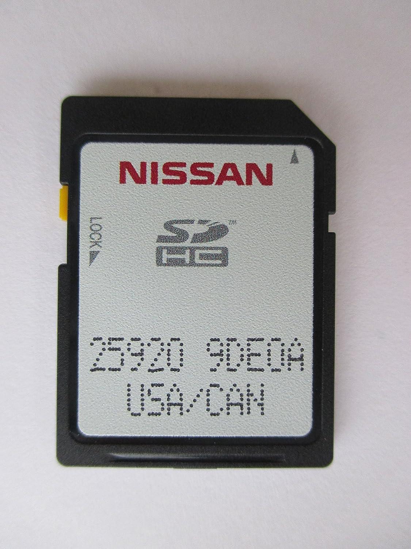 9de0 a Nissan Connect SDナビゲーションカード、2017年2018、マップデータ、GPSメモリアメリカとカナダマップOEM部品番号25920 – 9de0 a 259209de0 a 9deoa B077Y51TY4