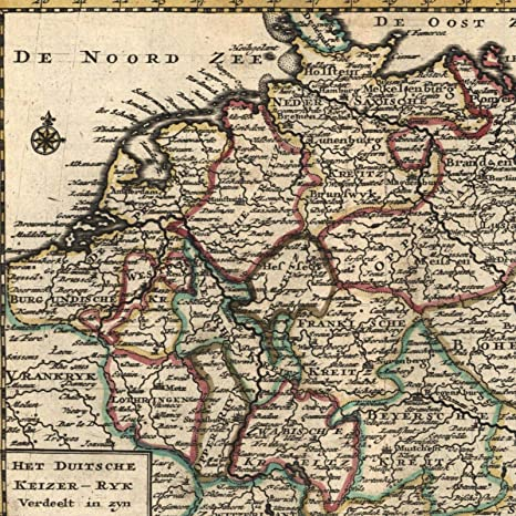 Map Of Holland And Germany.Amazon Com German Kingdom Netherlands Germany Poland C 1747 De Lat