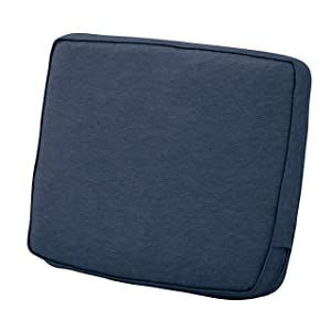 "Classic Accessories Montlake Back Cushion Foam & Slip Cover, Heather Indigo, 21x20x4"" Thick"