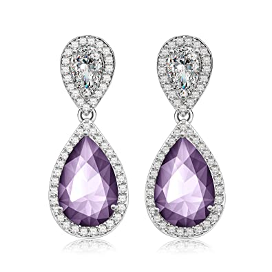Amazon crystal dangle earrings made with swarovski crystals crystal dangle earrings made with swarovski crystals sparkly teardrop chandelier earrings exquisite workmanship aloadofball Image collections