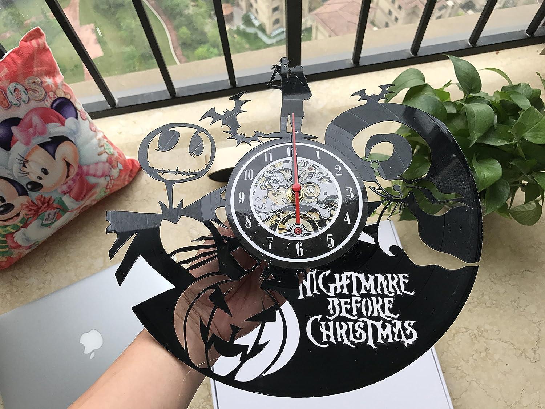 Nightmare Before Christmas Clock Vinyl Record Home Art Wall Design ...