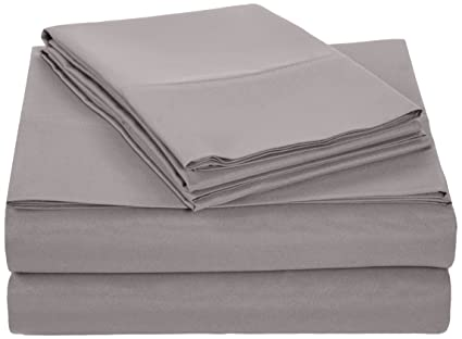 AmazonBasics Microfiber Sheet Set   Queen, Dark Grey