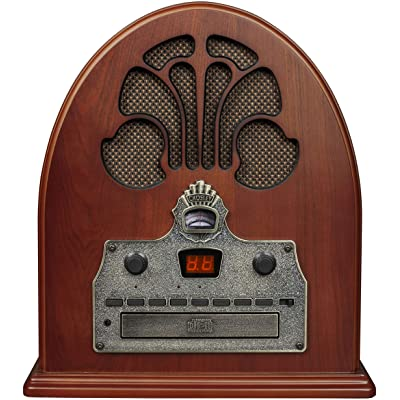 Crosley CR32D Cathedral Retro Am/FM Tabletop Radio with Bluetooth Receiver and CD Player, Paprika: Electronics