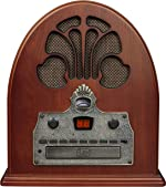 Crosley CR32D Cathedral Retro Am/FM Tabletop Radio with Bluetooth Receiver and