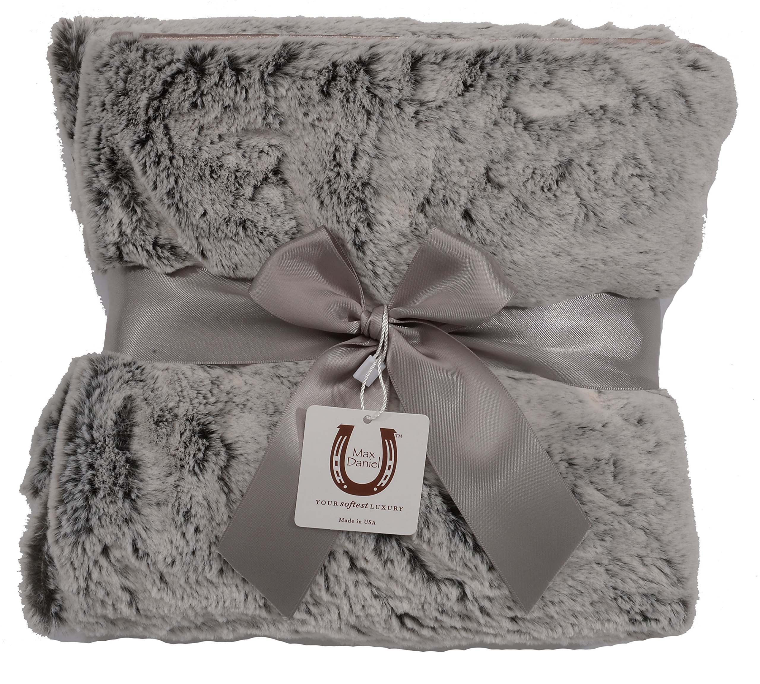Max Daniel Chinchilla Fluff Baby Throw - Double Sided- Piped Edge 1180 by Max Daniel Designs