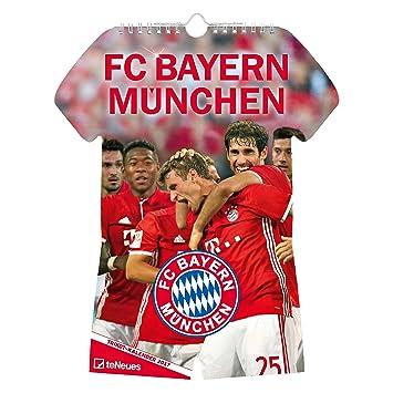 Calendrier Bayern.Fc Bayern Munchen Maillot Calendrier 2017 Multicolore
