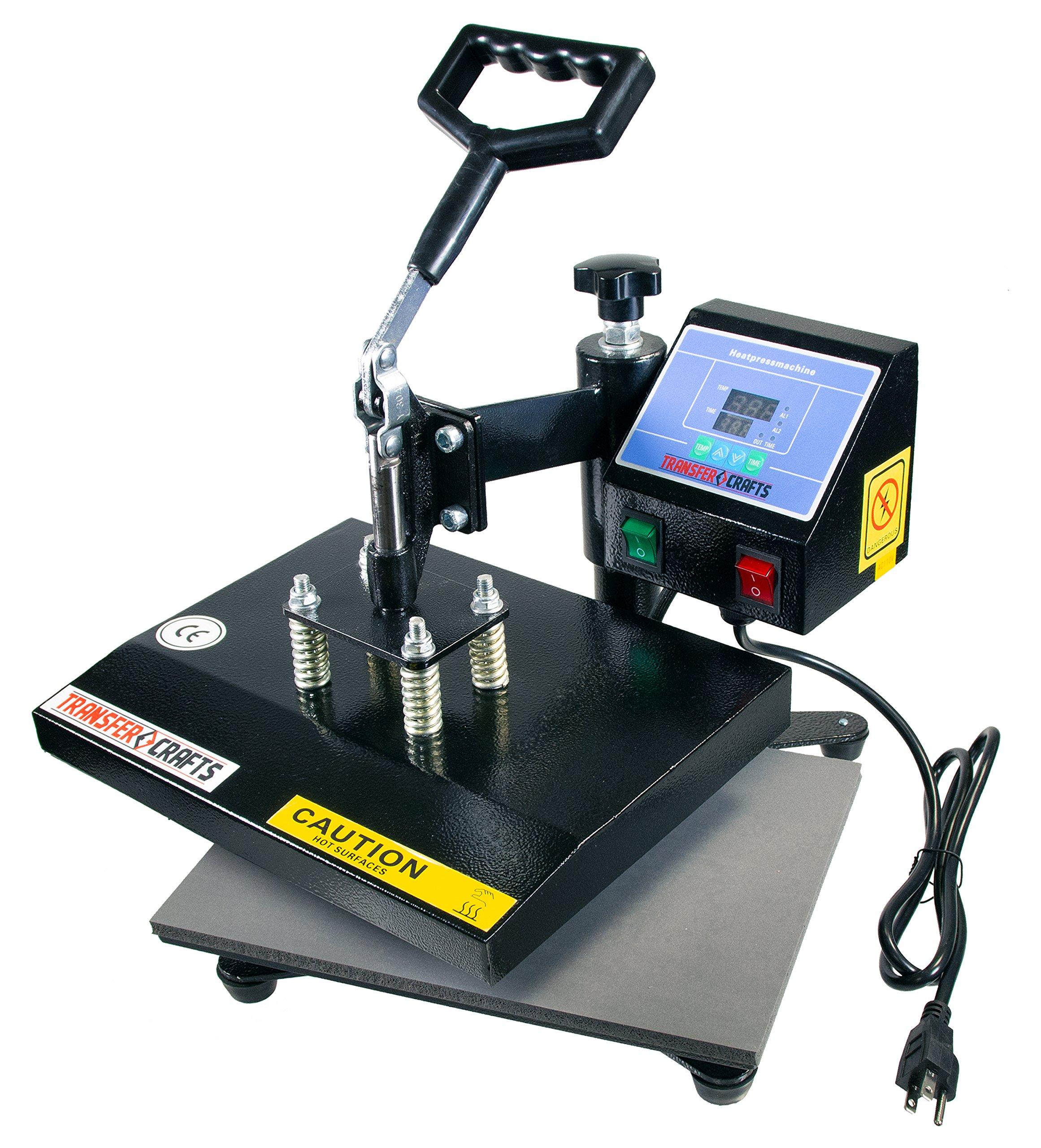 Transfer Crafts T-Shirt Heat Press & Digital Sublimation Machine (9 x 12) by Transfer Crafts