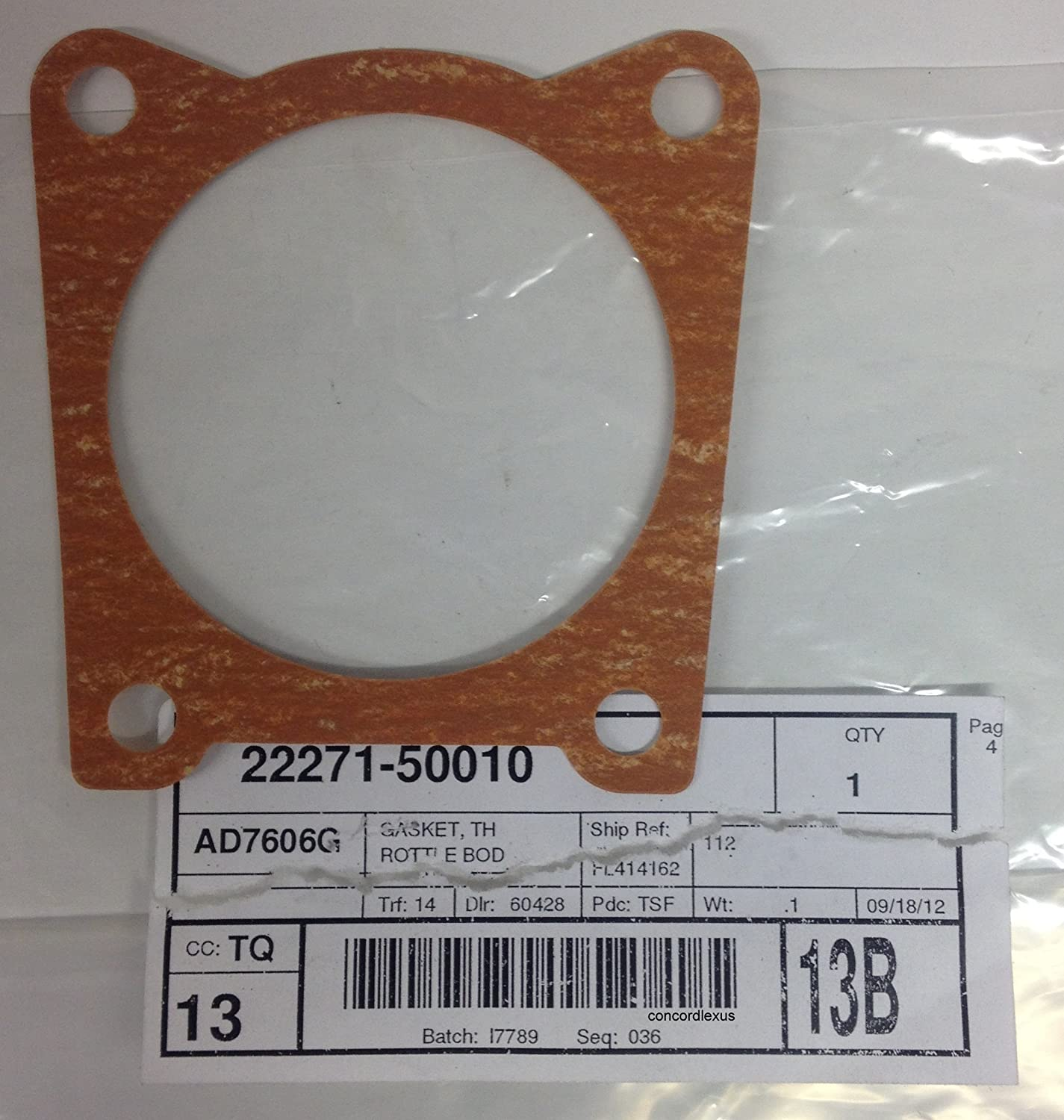 Lexus 22271-50010, Fuel Injection Throttle Body Mounting Gasket