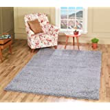 A2Z RUG SOFT SUPER THICK SHAGGY RUGS Silver 120X170 CM -3'9''X5'5''