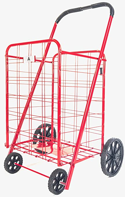Amazon.com: ATH Large Deluxe Rolling Utility / Shopping Cart ... on