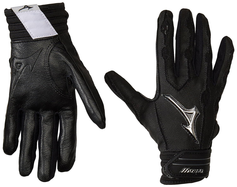 Mizuno Youth Covertバッティング手袋 B01JFZTU5G Small|ブラック ブラック Small