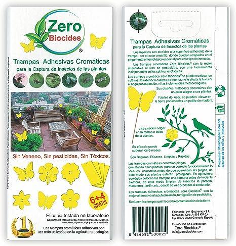 Zero Biocides 10 Trampas Adhesivas Cromáticas para la Captura de ...