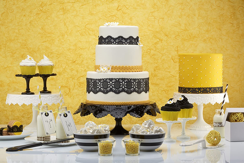 Amazon.com: Pavoni Plastic Black Cake Stand - 230mm: Kitchen & Dining