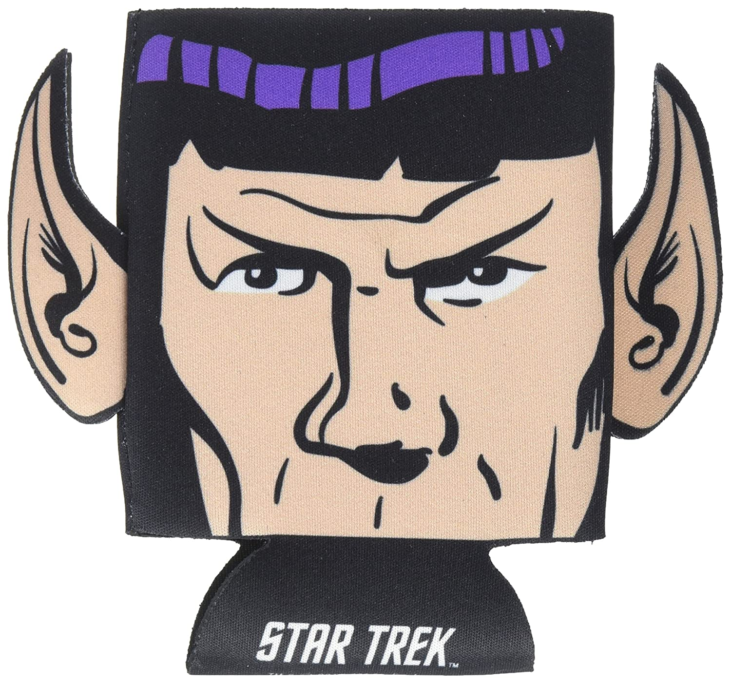 ICUP Star Trek Spock Diecut Ears Huggie Koozie with Card, Clear