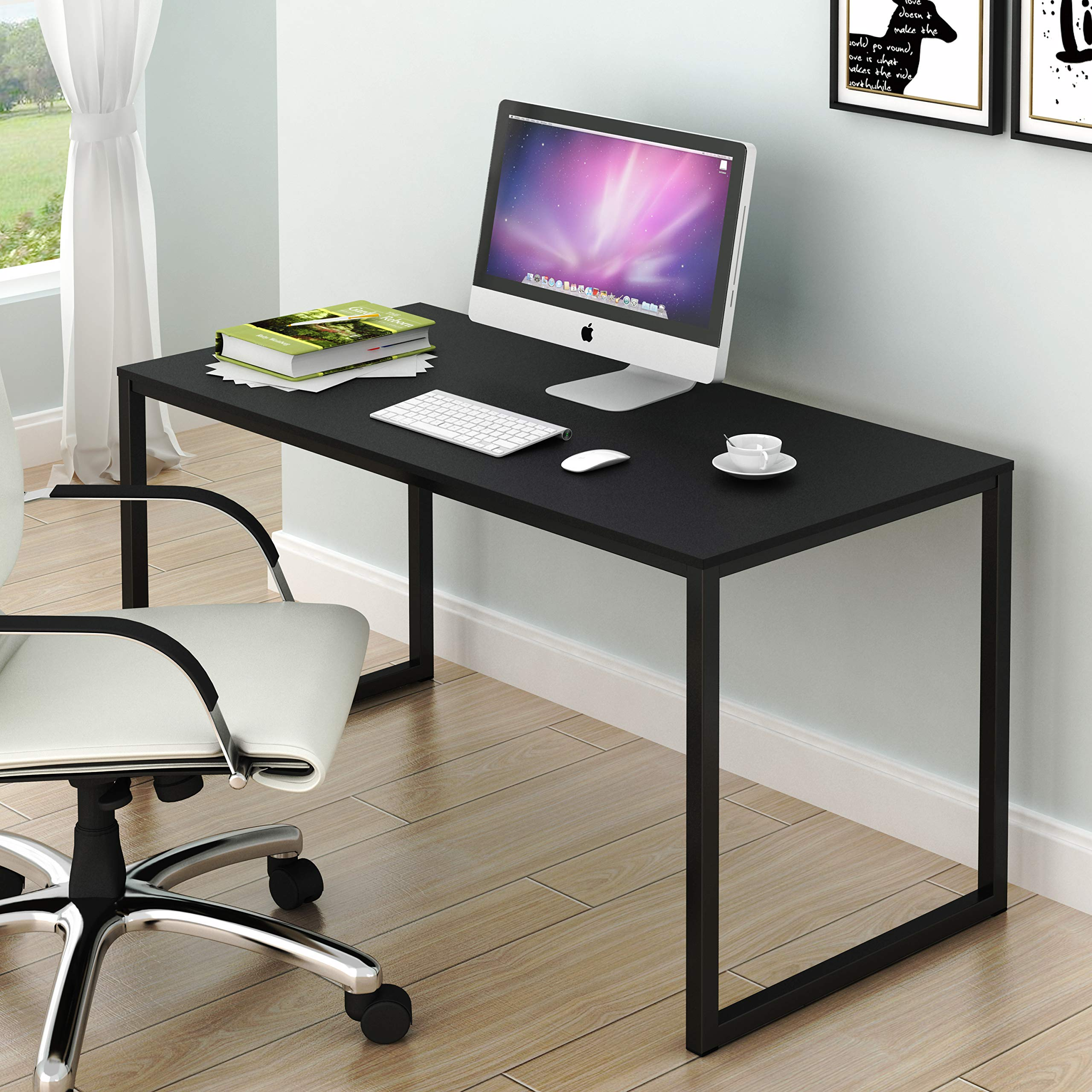SHW Home Office 48-Inch Computer Desk, Black by SHW