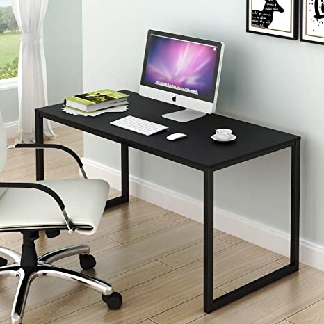 Miraculous Shw Home Office 48 Inch Computer Desk Black Beutiful Home Inspiration Semekurdistantinfo