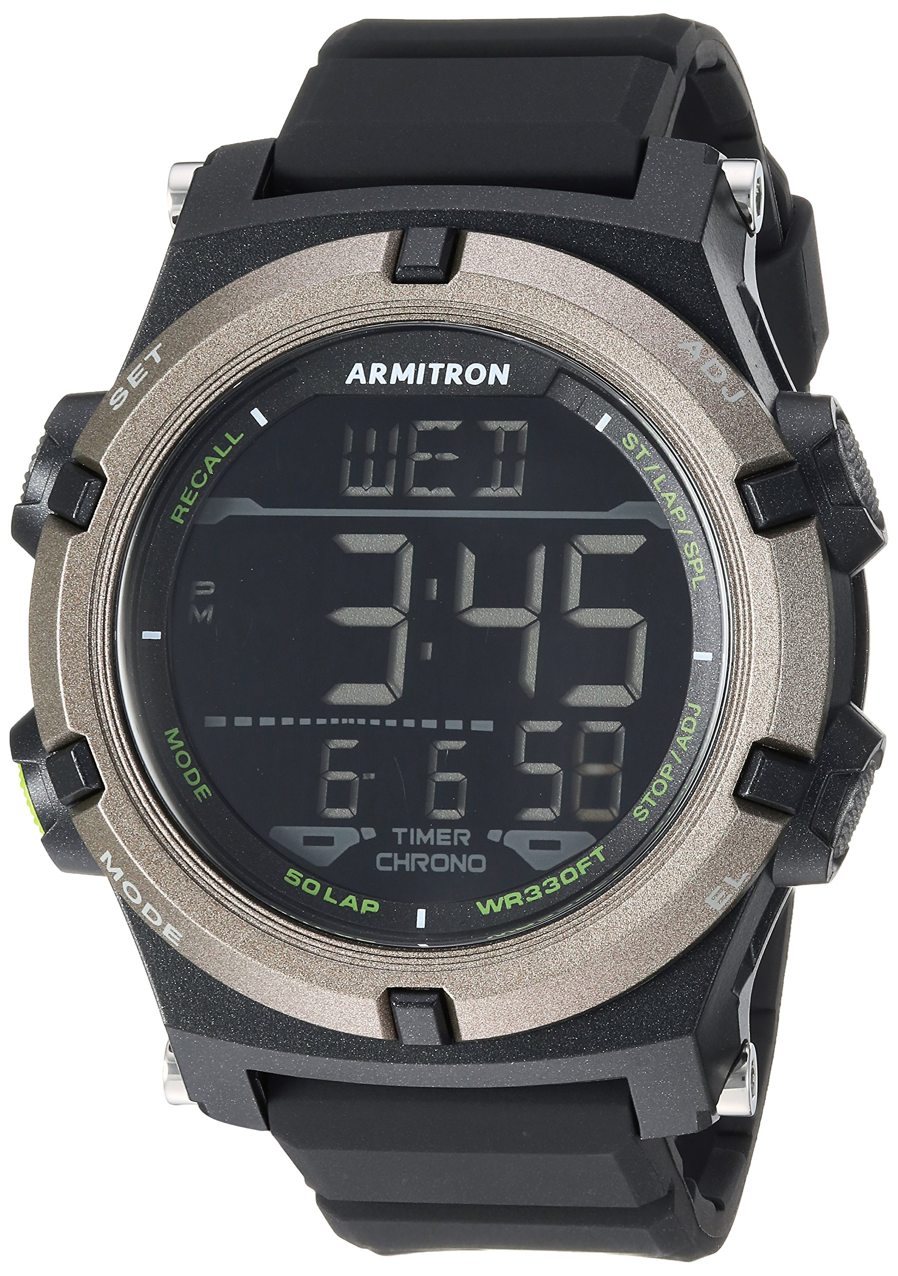 Armitron Sport Men's 40/8438BLK Digital Chronograph Black Resin Strap Watch by Armitron Sport