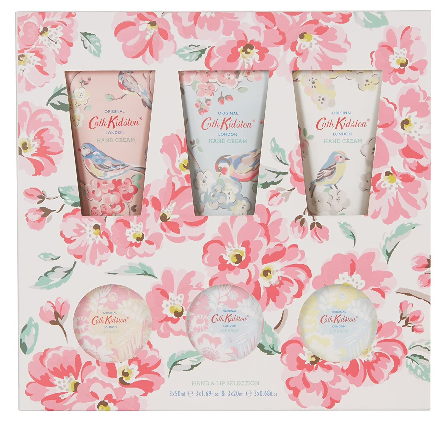 Cath Kidston Assorted Blossom Birds Hand and Lip Care Set: Amazon.co ...