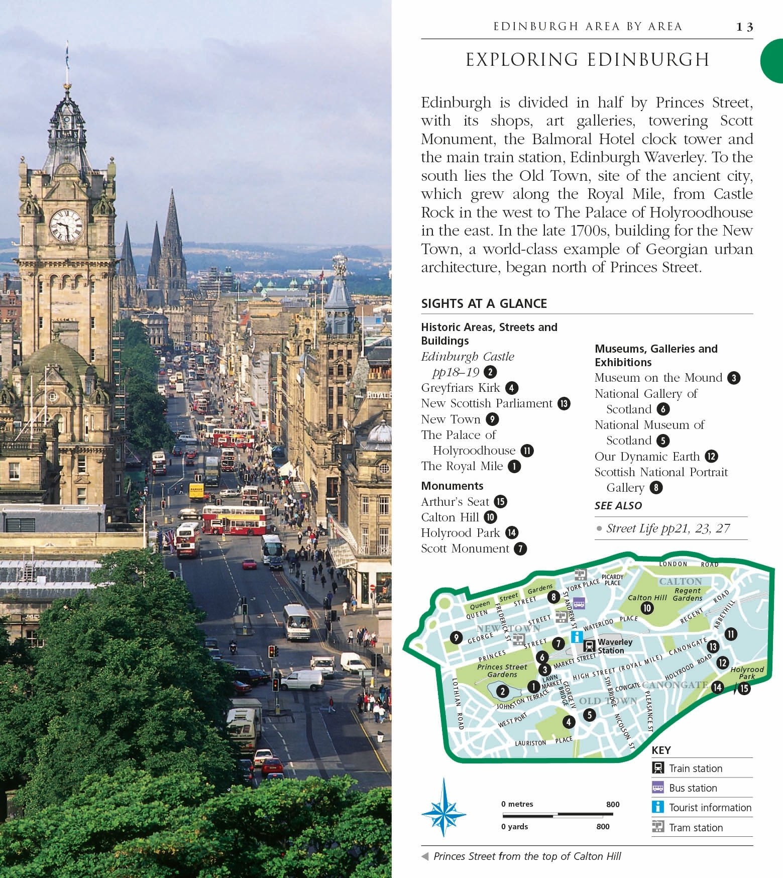 Edinburgh Pocket Map and Guide DK Eyewitness Travel Guide Amazon