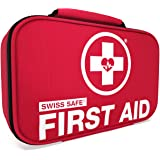 Swiss Safe 2-in-1 First Aid Kit (120 Piece) + Bonus 32-Piece Mini First Aid Kit: Compact, Lightweight for Emergencies at…