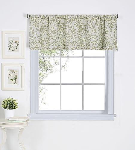 Elrene Home Fashions 26865775600 Window Valance, 60 x 15 1, Sage Green