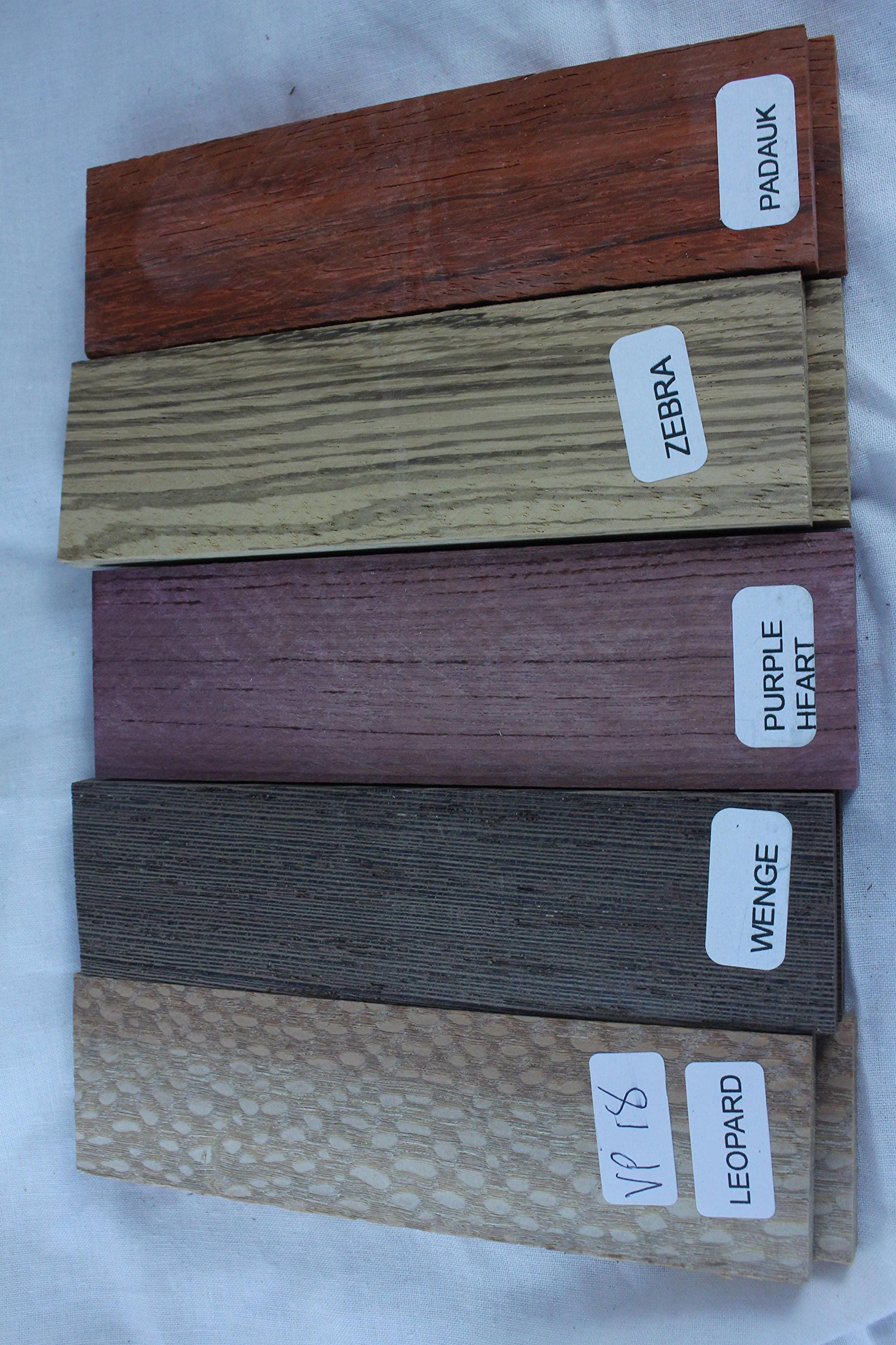 Payne Bros Custom Knives Variety Pack of 5 Wood Scales, 5 INCH, for Knife Making - Gun grps - Craft Supplies (VP18)