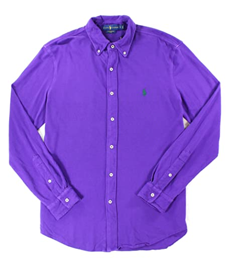 6692674d8 Image Unavailable. Image not available for. Color  POLO RALPH LAUREN Men s  Long Sleeve Featherweight Mesh Button Down Collared Shirt ...