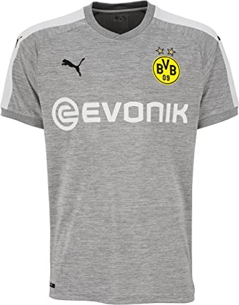 Amazon Com Puma Borussia Dortmund Fc 2017 18 Short Sleeve Third Jersey Light Grey Heather White Small Clothing
