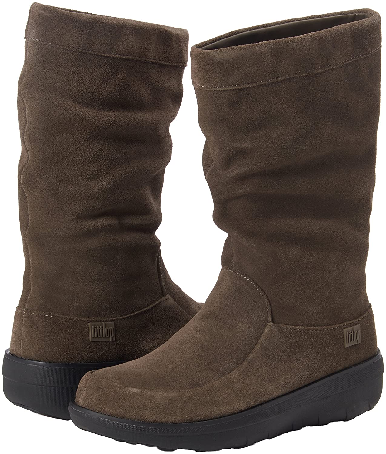Fitflop Loaff Slouchy Knee Boot - Botas para Mujer, Color Marrón - Brown (Bungee Cord), Talla 37 EU (4 UK)