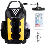 30L Waterproof Dry Bag Backpack by VITCHELO for Outdoor Water Sports Kayaking Camping - Fly Fishing & Boating Gifts for Men - 100% Tear-Free, Lifetime Kayak Storage Bag - FREE Waterproof Phone Pouch