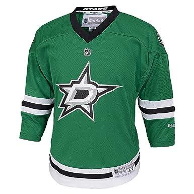 new concept 616c3 5a5bd Amazon.com: Dallas Stars Blank Green NHL Youth Reebok ...