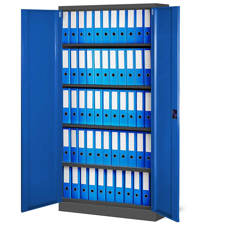 2er Set Aktenschrank C001 Büroschrank Metallschrank ...
