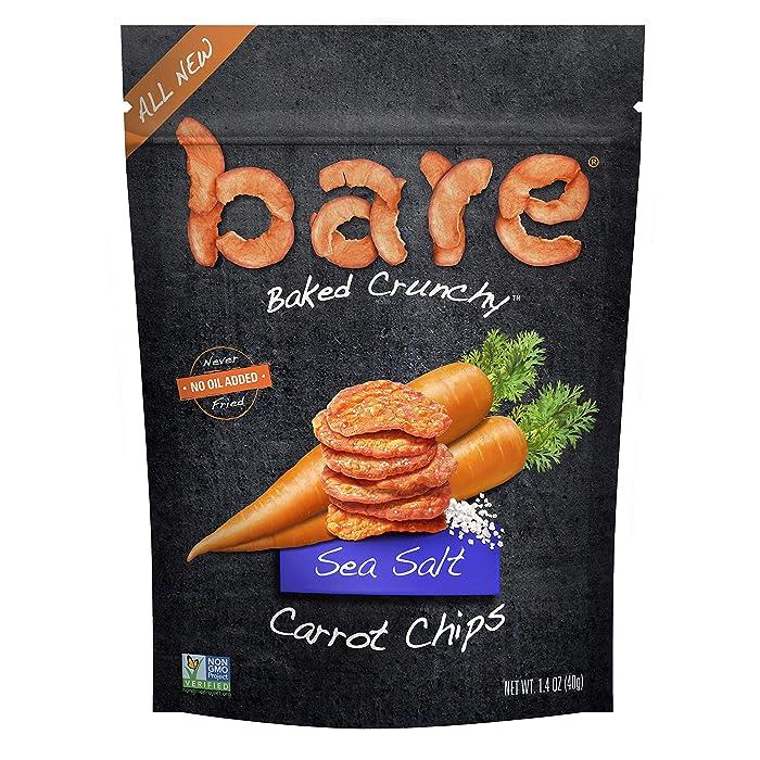 bare Snacks Baked Crunchy Carrot Chips, Sea Salt, 1.4 Oz