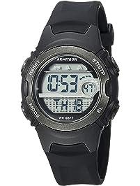 b216fdf15e9 Armitron Sport Women s Digital Chronograph Black Resin Strap Watch