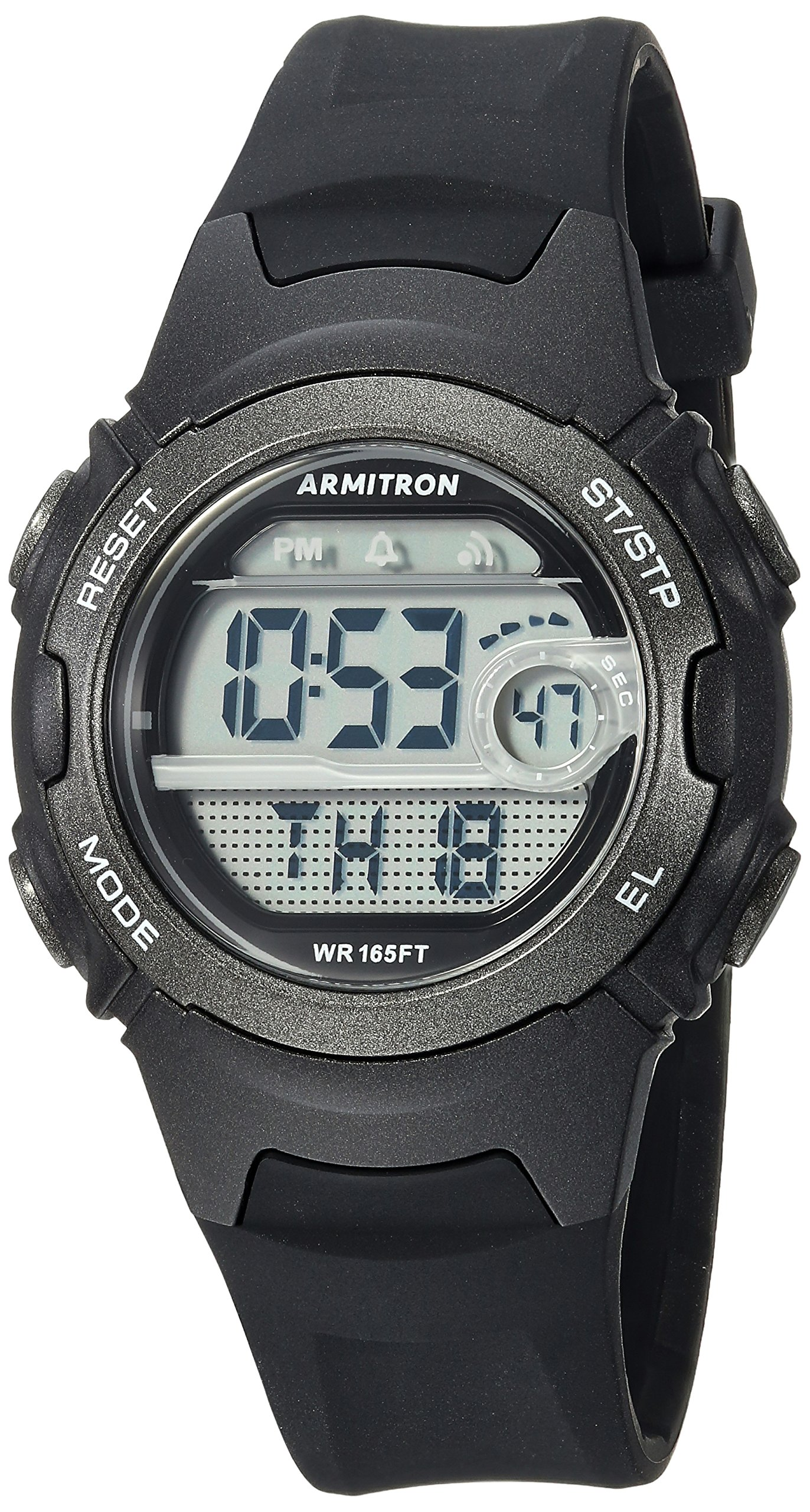 Armitron Sport Women's 45/7088BLK Digital Chronograph Black Resin Strap Watch by Armitron Sport