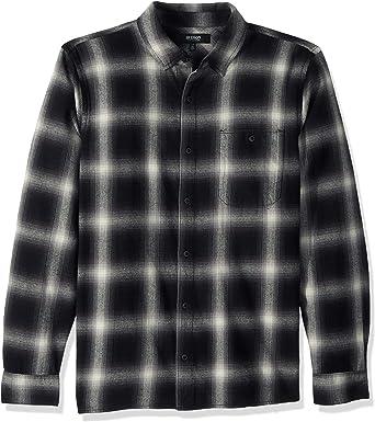 Hudson Jeans Mens Weston Plaid Flannel Shirt